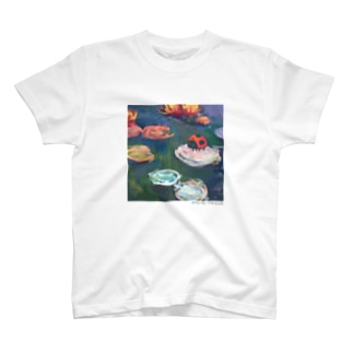 名画を楽しむてんとう虫〜水面の絵画〜 T-shirts