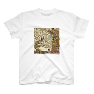名画を楽しむてんとう虫〜抱きあう絵画〜 T-shirts