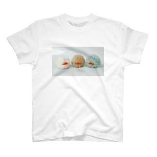 あひる玉 ぬいぐるみプリント/キュート T-shirts