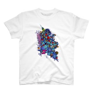 赤花のギョギョ T-shirts