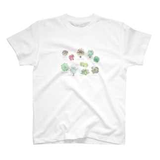 ゆんゆん多肉図鑑。 T-shirts