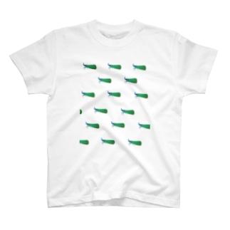 テングビワハゴロモちゃん(青)いっぱい T-shirts