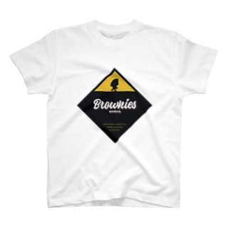 Brownies Worksプレート T-shirts