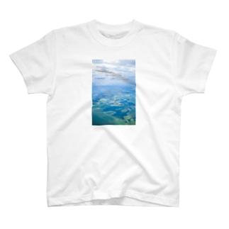 草笛鈴 / RIN KUSABUEの雲と田畑 空 T-shirts