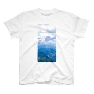 雲と森と街 空 T-shirts