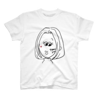 すまし顔の私 T-shirts