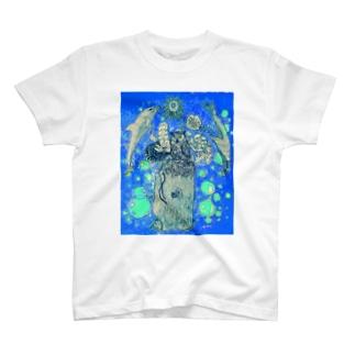 花咲き鯨と動物たち T-shirts
