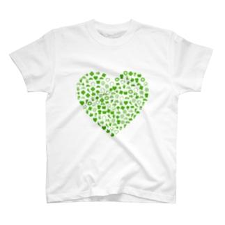 グリーンハート エコ 記号 T-shirts