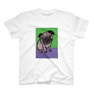 鼻ペチャ堂のパグっち T-shirts