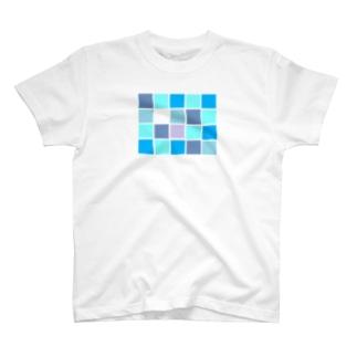 タイルを敷き詰めル T-shirts