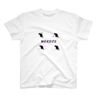NEKOZE生活ロゴ T-shirts