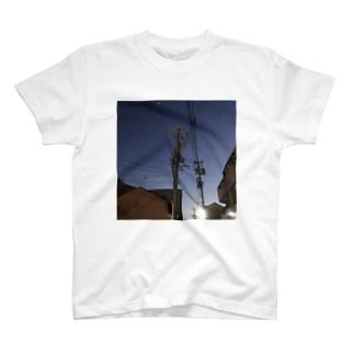 夜と電柱 T-shirts
