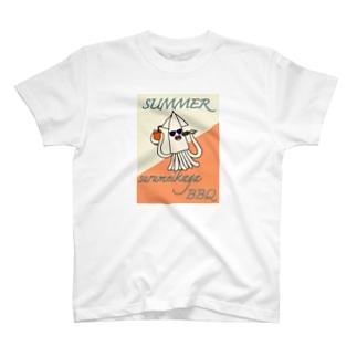 スルメイカだってバーベキューしたい T-shirts