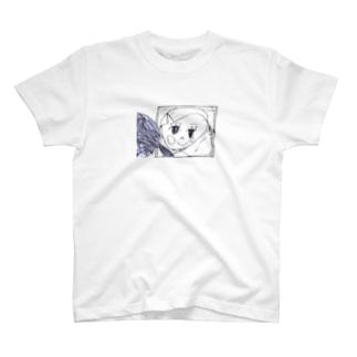 かがみよかがみ(黒線) T-shirts