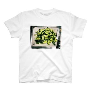 切り刻まれたきゅうり T-shirts