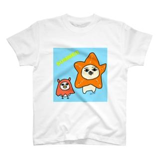 ヒトデとメンダコのコスプレ T-shirts