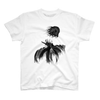 月夜を飛ぶ鳥 T-shirts