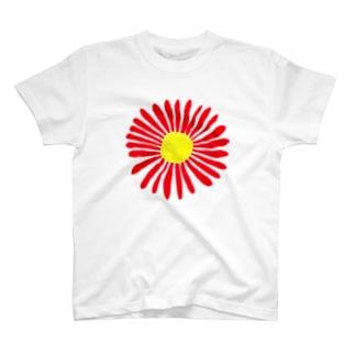 おおきい花(唐辛子色) T-shirts