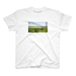ピクセルトラベラー・Tシャツ(草原) T-shirts