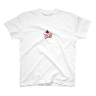いちごのショートケーキ T-shirts