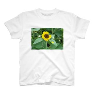 一欠けひまわり T-shirts