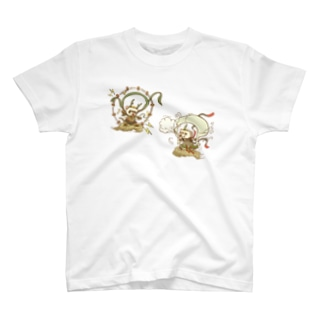 荒ぶるかた達 風神雷神 T-shirts