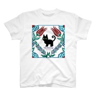 くろねこタイル T-shirts