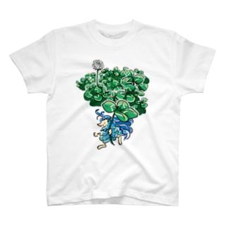 アマビエさまとクローバー T-shirts