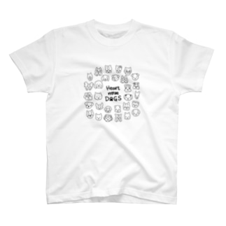 Heart nose DOGS(丸型) T-shirts