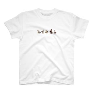 森の動物たちのお散歩 T-shirts