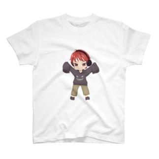 ひらめのグッズ!!((ミニキャラver)) T-shirts