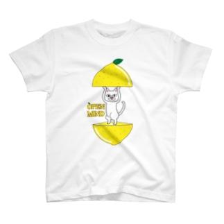 あけちゃう猫/レモン T-Shirt