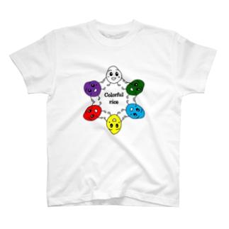Sherryのカラフルrice T-shirts