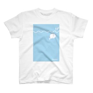 あざらしらしき「ぷぅ」と海 T-shirts