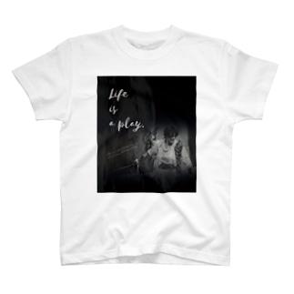 【人生は芝居だ ver.2】 by小菅博之 T-shirts