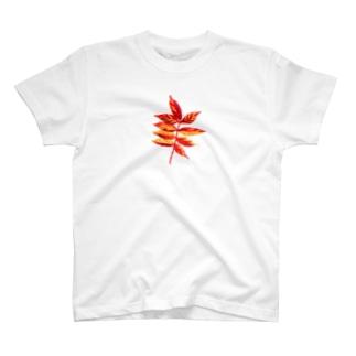 ナナカマド 手刺繍風 T-shirts