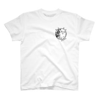 猫丸山田商店のロゴTシャツ【わんぽいんと】 T-shirts