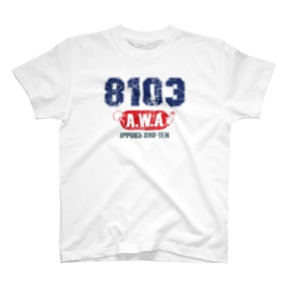8103-AWA-ビンテージ風B T-shirts