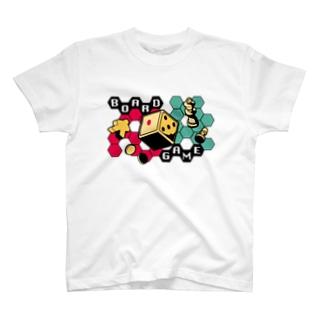 ボードゲームシャツ 白 T-shirts