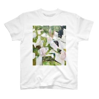ばらの生垣(春) T-shirts