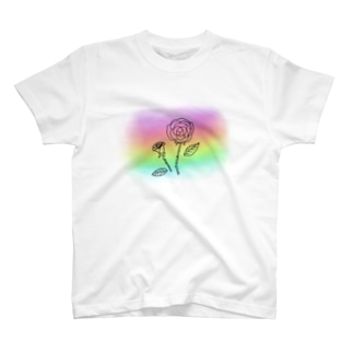 花モチーフ グラデーション1 T-shirts
