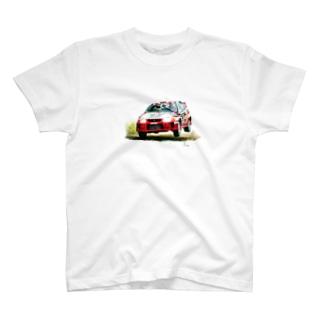 1998年三菱ランサーエボリューションⅤ GroupA Rally Finland T-shirts