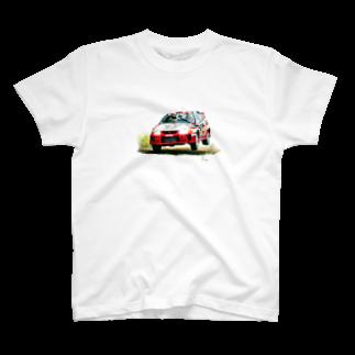 marsの1998年三菱ランサーエボリューションⅤ GroupA Rally Finland T-shirts