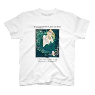 格言グリーンTシャツ T-shirts