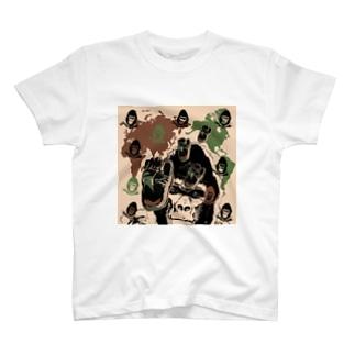 ゴリゴリの迷彩柄 T-shirts