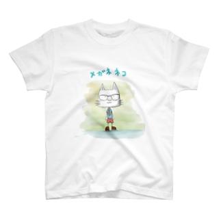 メガネネコ T-shirts