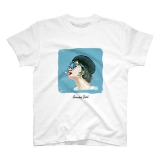 タローのタバコガール Tシャツ T-shirts