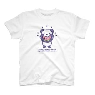 CT41ズレてもぱんだズレぱんだちゃんnewスイカも食べよう*カラフルver. T-shirts