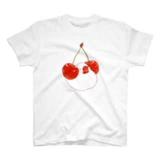さくらんぼ&文鳥 T-shirts