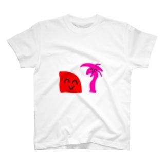 サンセットくんとヤシの木ちゃん T-shirts
